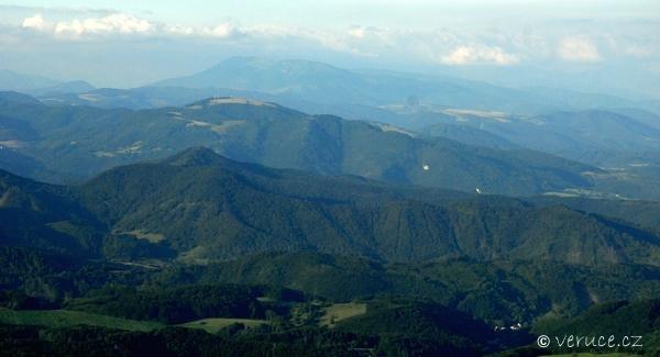 Z Kremnických vrchů na Tatry)
